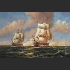 Атака шлюпом Его Величества американского брига — Доусон, Монтегю