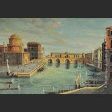 Большой канал с видом моста Риалто и других зданий (Фантазия) — Каналетто (Каналь), Джованни Антонио