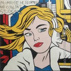 М-может быть (рисунок девушки) — Лихтенштейн, Рой
