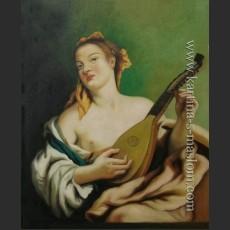 Дама с мандолиной — Тьеполо, Джованни Баттиста