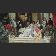 Итальянская школа — Чтение в салоне, 19-й век — Атрибутировано Андреотти