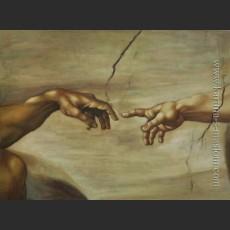 Сотворение Адама (Фреска плафона Сикстинской капеллы. Фрагмент) – Микеланджело ди Лодовико, Буонарроти Симони