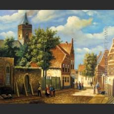 Голландский городской пейзаж. Уличная сцена — Коеккоек, Виллем