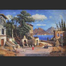 Итальянская деревня у озера — Родде, Карл-Густав
