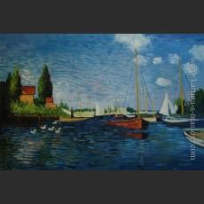 Аржантей (Красные лодки) — Моне, Клод Оскар