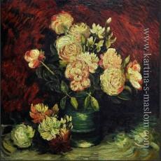 Ваза с пионами и розами — Ван Гог, Винсент Виллем