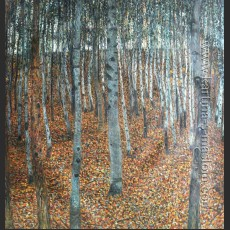 Березовый лес I — Климт, Густав