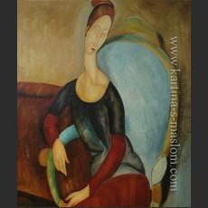 Портрет Жанны Эбюртен, сидящей в кресле — Модильяни, Амедео Клементе