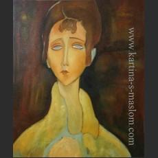 Женщина в белом манто — Модильяни, Амедео