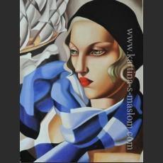 Голубой шарф — Де Лемпицка, Тамара