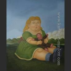 Девочка с куклой — Ботеро, Фернандо